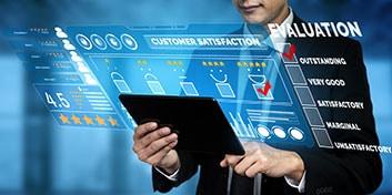 Net Promoter Score – Feedback Point - Beitragsbild Kunden- oder Mitarbeiter-Feedback Analysieren - Online Kundenbefragung Tablet