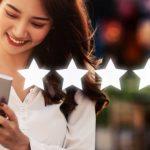 Net Promoter Score – Feedback Point - Titelbild - Kundin Kundenbewertung per Smartphone