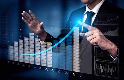 Kundenzufriedenheit messen und steigern - Beitragsbild - Praxisbeispiele - Diagramm