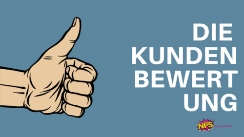 Blog: Titelbild die Kundenbewertung Repraensentativ und antwortrate Daumen Hoch