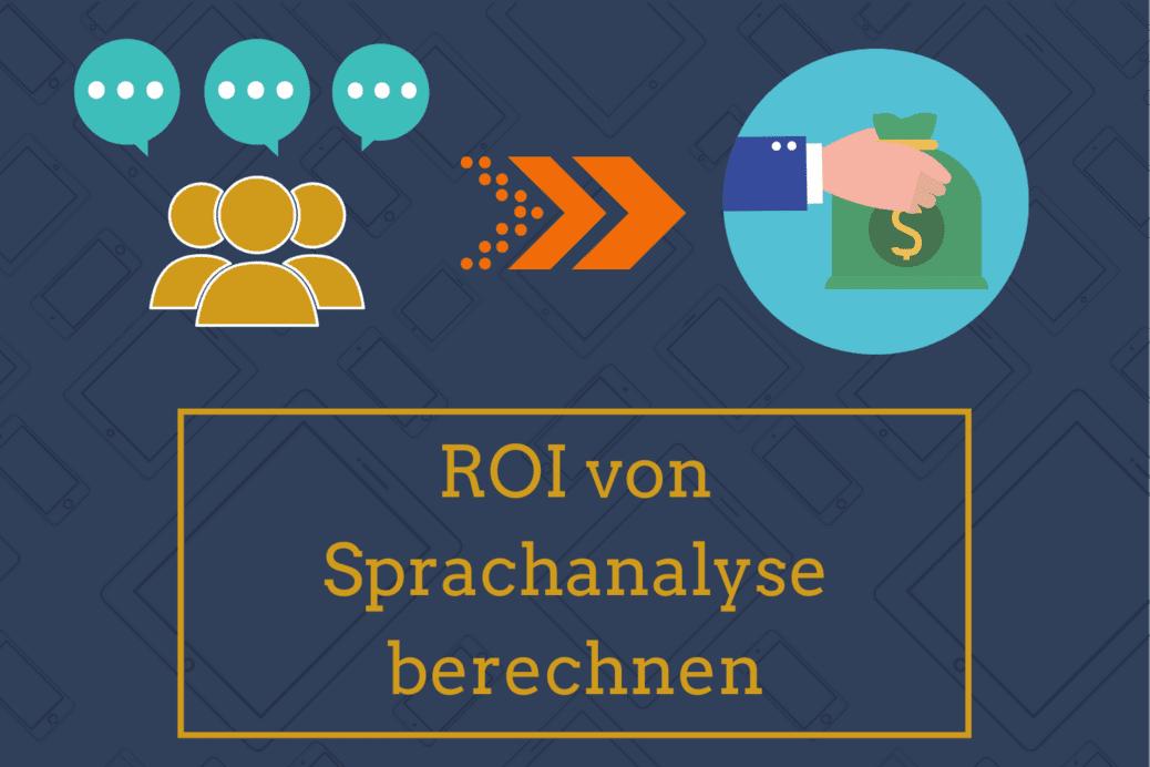 Blog: Titelbild Online Seminar ROI Berechnung von Sprachanalyse Menschen Geld