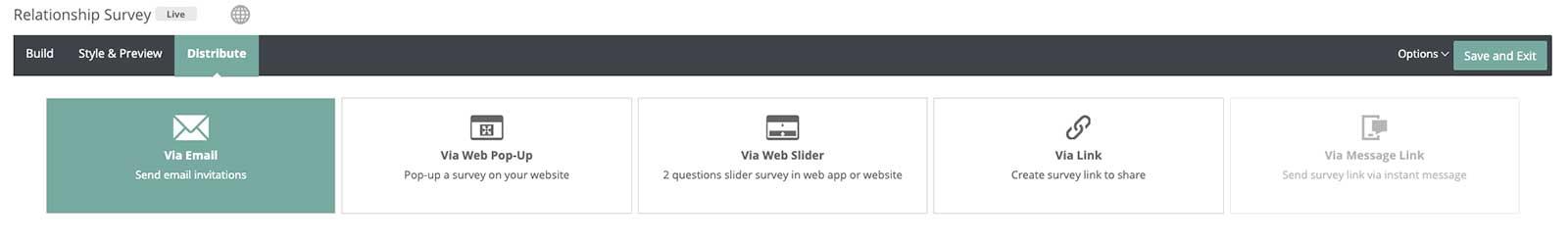 Customer Experience -Satmetrix Distribute Screenshot