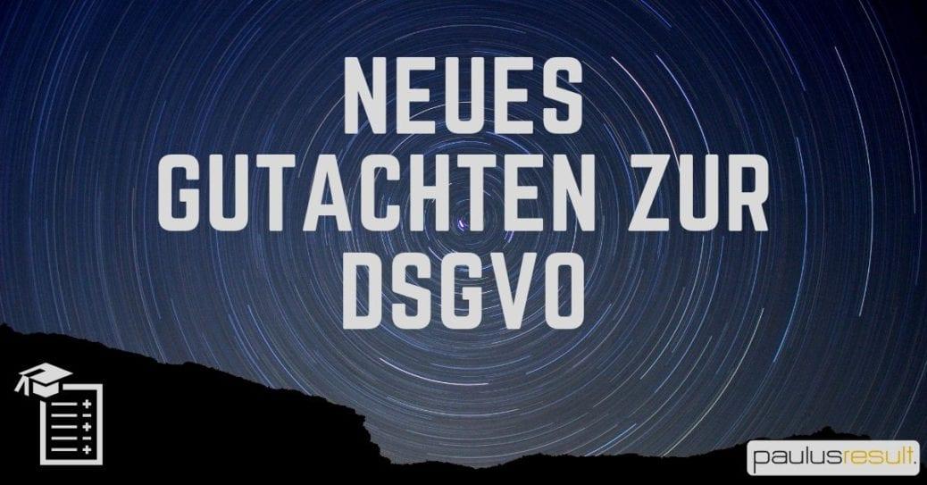 Blog: Titelbild Neues Gutachten zur Umsetzung der DSGVO Einwilligung oft uebertrapaziert Himmel