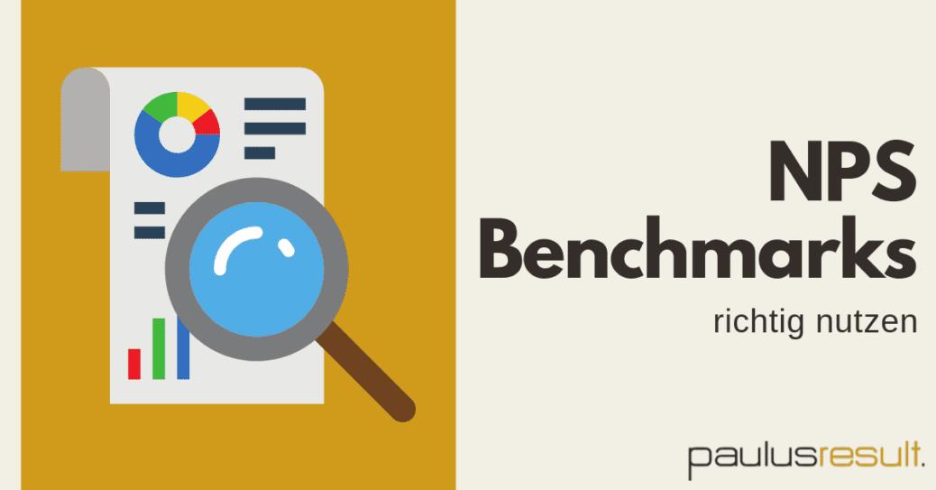Blog: Titelbild NPS Benchmarks was ist ein guter Net Promoter Score Lupe Formular