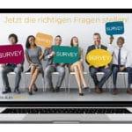 Kundenbefragung Fragebogen Check - Beitragsbild Facebook - Kunden bei der Befragung
