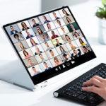 Kundenbefragung - Beitragsbild - Fokussierte Workshops & Webinare - Laptop Videokonferenz