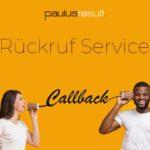 Rückruf-Service - Beitragsbild - zwei Leute am telefonieren