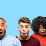 Sprachanalyse – Effizienz Online-Rechner - Beitragsbild - erstaunte Mitarbeiter