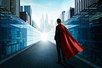 Customer Experience Beratung - Beitragsbild Banner Schnelligkeit - Superheld im Gewand