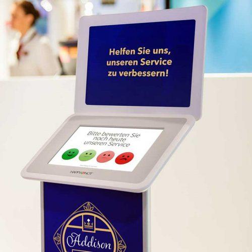 HappyOrNot® Smiley Touch™ - Touchscreen Produktbild - Corporate Design - 800 x 800