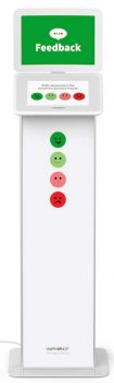 HappyOrNot® Smiley Touch™ - Touchscreen Produktbild Miete - Smiley Design Essential